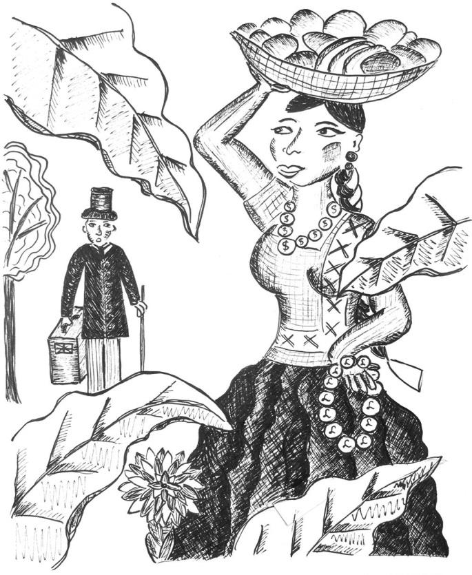 Tehuana a cizinec