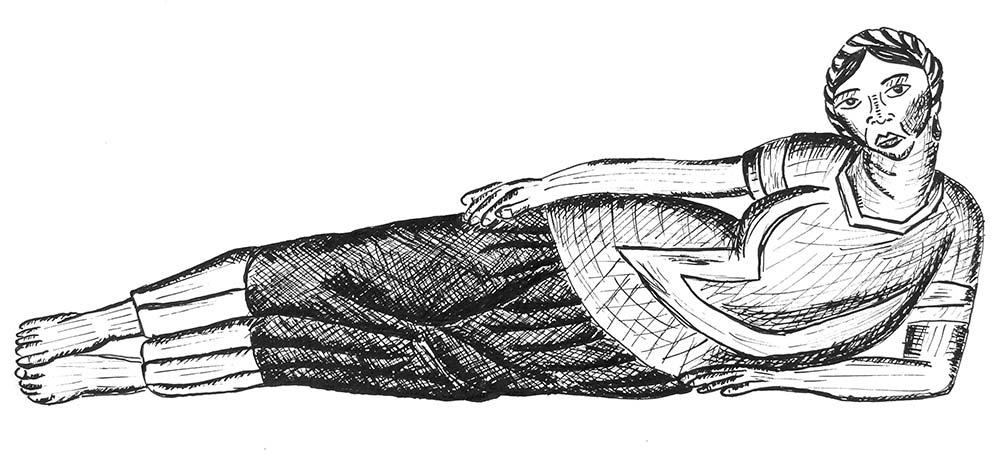 Tehuana ležící